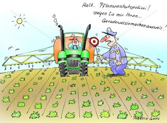 bauer polizei kontrolle pflanzenschutz acker traktor