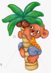Urlaub Sommer Baerchenjunge Palme Kokosnuss Gluecksbaerchen Serie