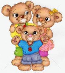 Gluecksbaerchen Serie Familie lachen freuen