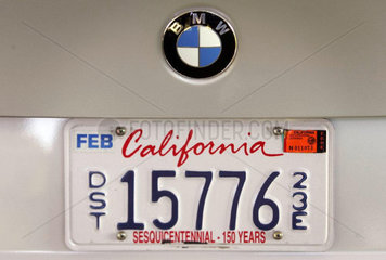 Autokennzeichen von Kalifornien