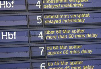 Verspaetungen im Bahnverkehr