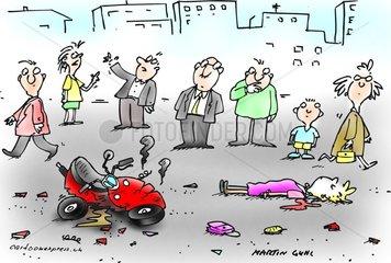 auto verkehr unfall versicherung wegschauen erste hilfe