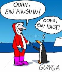 GUNGA Comicserie Scholle Pinguin Idiot Begegnung Touristen