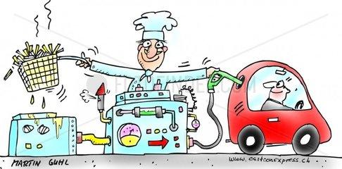 auto __l pommes fritieren wiederverwerten recyclen erneuerbar pflanzlich en