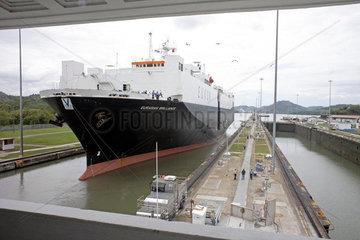 Schleuse Miraflores am Panamakanal