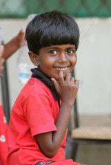 Kleiner Tamile in Sri Lanka