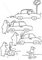 auto einparken aufblasbar luft ablassen