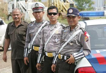 Polizisten in Banda Aceh