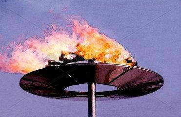 Olympisches Feuer Muenchen 1972