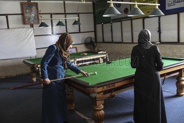 MIDEAST-GAZA-WOMEN-CAFE