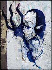 Sternzeichenserie Street Art Wassermann