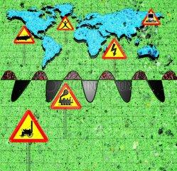 Konjunkturzyklen Zyklus Weltkarte 8