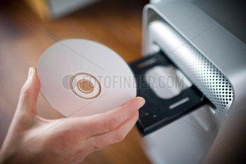 CD-Laufwerk eines Computers