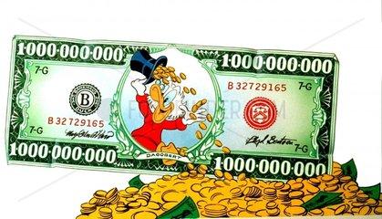 Entenhausen Dagobert Duck Geldschein Geld