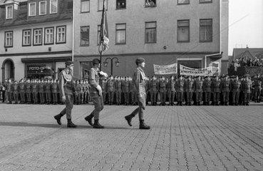 Erstes Oeffentliches Feierliches Geloebnis von Rekruten im Bereich des Bundeswehrkommandos Ost