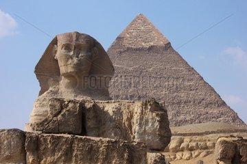 Gizeh Sphinx Chefren Pyramide