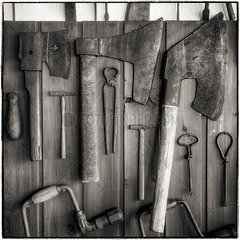 Werkzeuge in einer Werkstatt