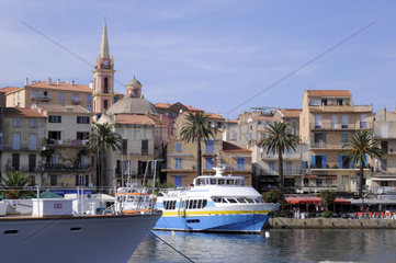 France  Corsica  Calvi  view of the city and the marina