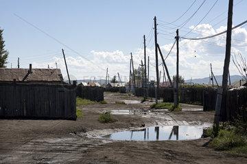 Ger-Viertel in der Mongolei