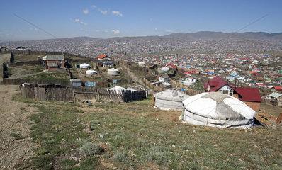 Ger-Viertel in Ulan Bator