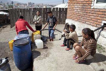 Wassertankstelle in Ulan Bator
