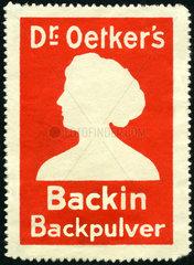 Dr. Oetker Backin Backpulver  Werbemarke  1913