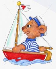 Urlaub Sommer Baerchenjunge Segelschiff Gluecksbaerchen Serie