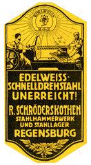 Edelweiss Stahl  Regensburg  Werbung  1912