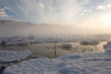 Tashkorgan  Landschaft mit heissen Quellen | Tashkorgan  landscape with hot sources