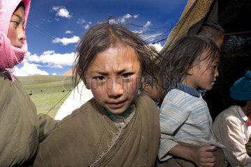 Tibetische Zeltschule in der Steppe
