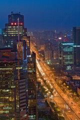 Beijing  Stadtansicht bei Nacht