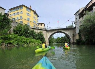 France  Haute-Savoie  Avant Pays Savoyarde  kayaking on the Rhone river