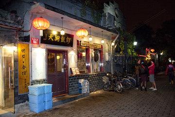 Beijing  Gastronomie in der Altstadt