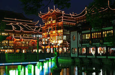 Shanghai  Yu Yan  Zig Zag Bruecke