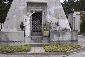 Cimitero Monumentale  Zentralfriedhof  Mailand  Milano  Lombardei  Italien  Europa