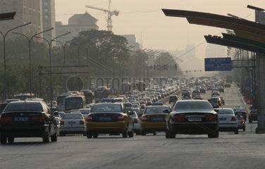 Beijing  Verkehr  Rushhour