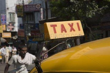 Kalkutta  Ein Taxi.