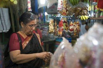 Kalkutta  Auf einem Markt.