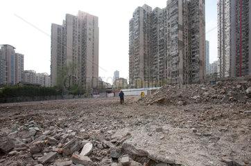 Shanghai  Abrissviertel.