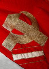 Flagge  Sowjetunion-Oesterreich  1945-1955  russische Besatzung