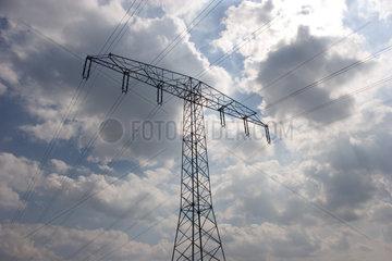 Elektrosmog: Starkstromleitungen bei Muehlenbeck in Brandenburg