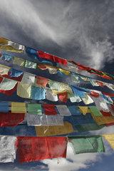 Lhasa  Yumbulagang Palace  Gebetsfahnen | Lhasa  Yumbulagang Palace