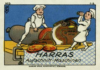 Aufschnittmaschine  Werbung  1913