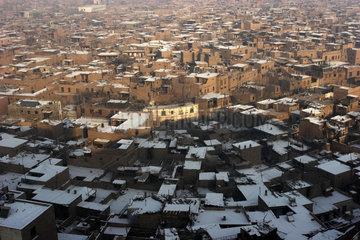 Kashgar  Provinz Xinjiang: Luftaufnahme der Altstadt
