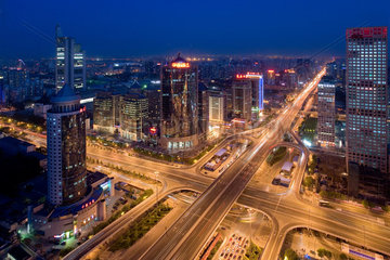 Peking  Verkehrsknotenpunkt