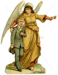 Schutzengel  Poesiebild  1895