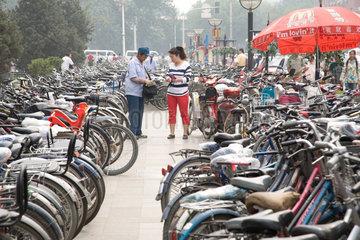 Beijing  Wangfujing  Fahrradparkplatz