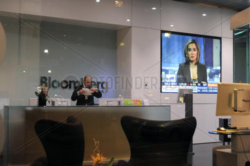 Italy  Milan  headquarters of Bloomberg  financial software  news  and data company