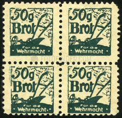 Lebensmittel-Marken der Wehrmacht  1944