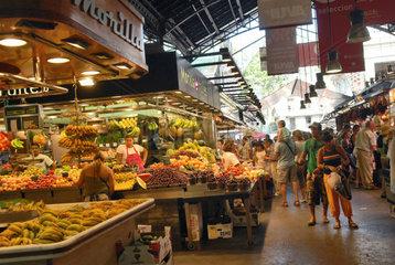 Spain  Catalonia  Barcelona  La Boqueria market (St  Joseph)  popular market of foods near the Ramblas